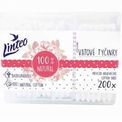 Obrázok LINTEO papierové vatové tyčinky 200ks-box
