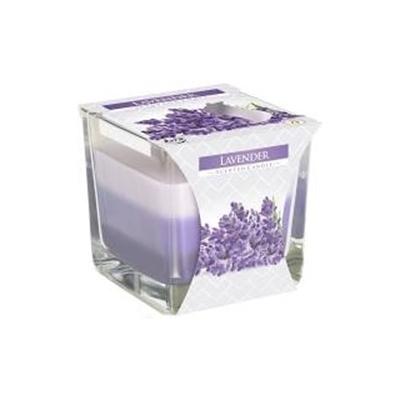 Obrázok BISPOL Vonná sviečka trojfarebná Lavender 170g